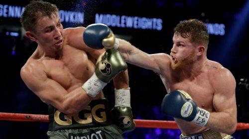 Saúl Álvarez lanza un golpe contra Gennady Golovkin
