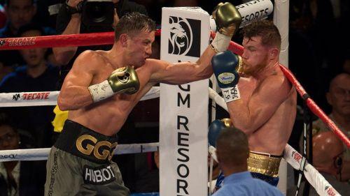 GGG golpea a Canelo sobre el ring de la T-Mobile Arena
