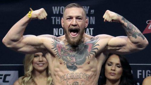 Conor McGregor, durante un ceremonia de pesaje
