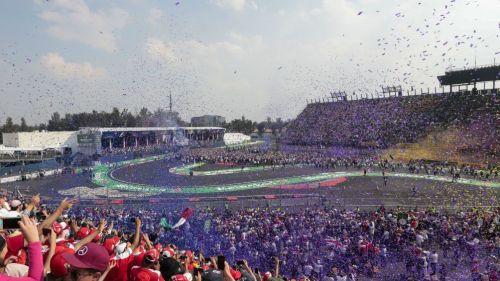 Celebración, durante el GP de México 2017