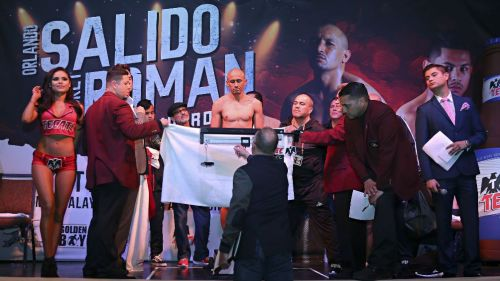 Orlando Salido durante la ceremonia de pesaje