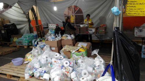 Centro de acopio en Coyoacán