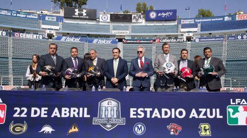 Presentación del Tazón México III en el Estadio Azul