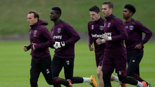 West Ham durante una sesión de entrenamiento