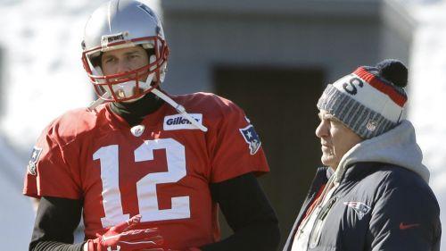 Tom Brady, durante un entrenamiento con Pats