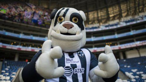 Monty apoyando a Monterrey durante un juego de Copa MX