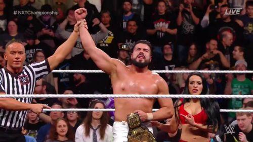 Andrade 'Cien' Almas celebra junto a Zelina Vega continuar siendo Campeón de NTX