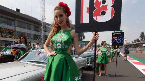 Las 'grid girls' engalanaron el Autódromo Hermanos Rodríguez el año pasado