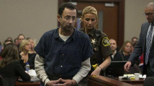 Larry Nassar, en los procesos judiciales de su segunda sentencia
