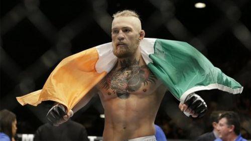 Conor McGregor después de una pelea en UFC