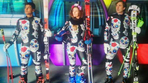 Los mexicanos portando su uniforme para PyeongChang 2018