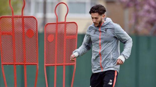 Adam Lallana, durante un entrenamiento con Liverpool