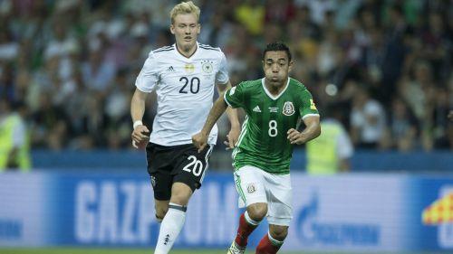 Marco Fabián, durante el duelo contra Alemania en Copa Confederaciones