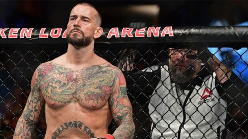 CM Punk en el octágono de la UFC