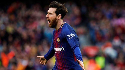 Lionel Messi celebra gol con el Barcelona