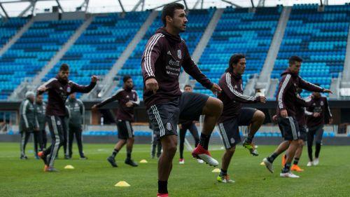 Jugadores del Tri, durante un entrenamiento en Santa Clara