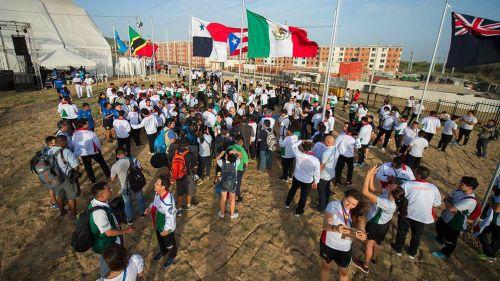 Izamiento de banderas en Barranquilla 2018