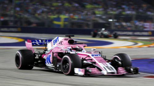 Sergio Pérez, durante el GP de Singapur