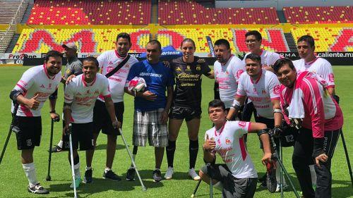 Chispa Velarde expresó su admiración por Asociación Mexicana de Futbol de Amputados