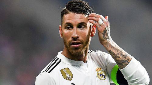 Sergio Ramos, en juego del Real Madrid vs Voktoria Plzen