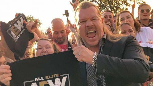 Chris Jericho en su presentación con AEW