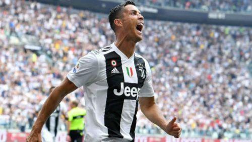 Cristiano Ronaldo festeja gol con Juventus