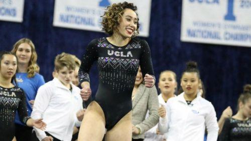 Katelyn Ohashi, en una competencia con la UCLA