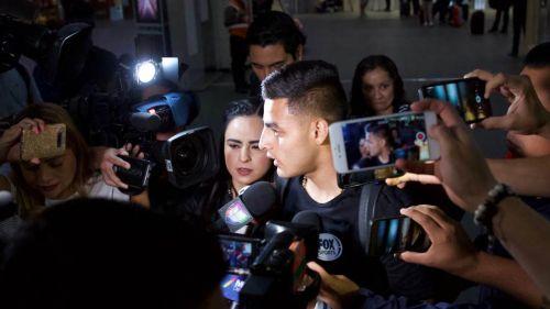 Alexis Vega durante rueda de prensa