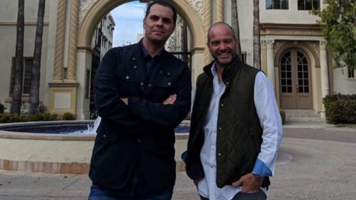 Martinoli y García posan para la cámara