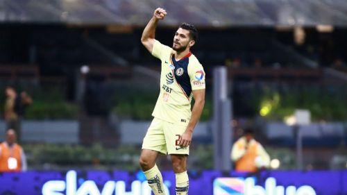 Martin, en festejo en el Estadio Azteca