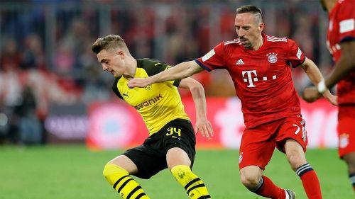 Ribery en un partido con el Munich