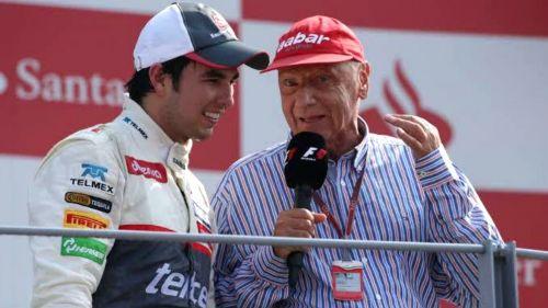 Sergio Pérez y la leyenda de la F1, Niki Lauda