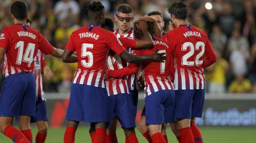 Atlético de Madrid celebra anotación en La Liga