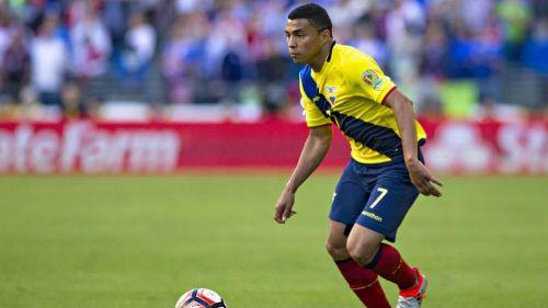 Jefferson Montero, durante un partido de Ecuador