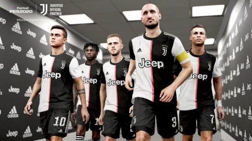 Aspecto de los jugadores de la Juventus en el PES 2020