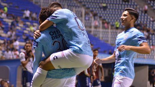 El festejo de uno de los goles del Pachuca
