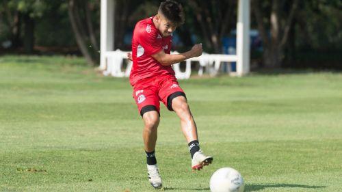 Shayr Mohamed durante una práctica con Atlético San Luis