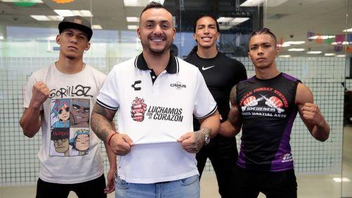 Peleadores de CRIXUS MMA posa para la lente de RÉCORD