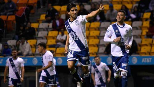 Jorge Zárate, en un partido del Puebla