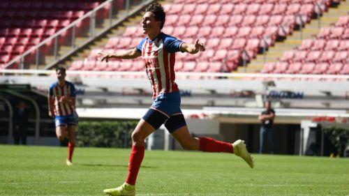 Gabriel Martínez, en un partido de Chivas