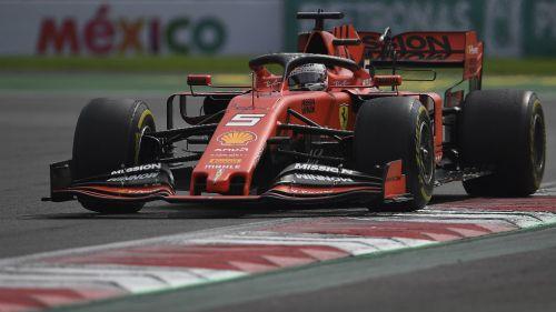 Gran Premio de México: Sebastian Vettel durante la carrera