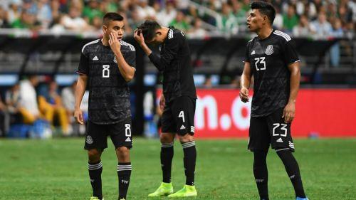 Selección Mexicana en partido de Nations League