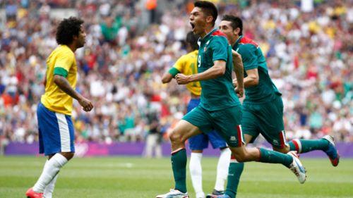 Oribe celebra un gol durante su participación en JO Londres 2012