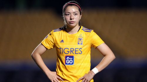 Katty Martínez en partido de la Liga MX Femenil