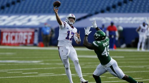 El quarterback de los Búfalo Bills Josh Allen
