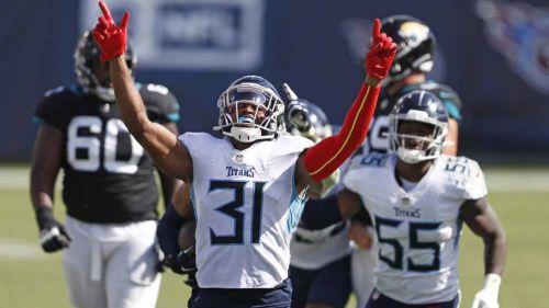 Los Titans celebran la victoria sobre Jaguars