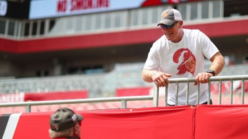 Brett Favre en el estadio