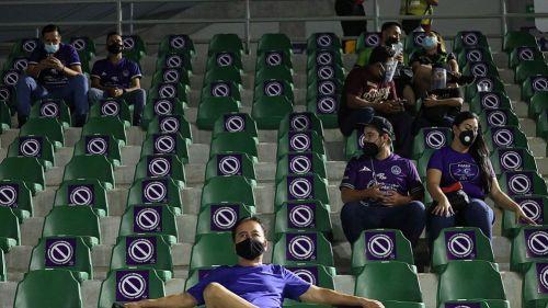 Los aficionados en el Estadio Kraken