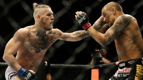 Conor McGregor y Dustin Poirier en un combate