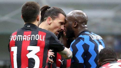 Ibrahimovic y Lukaku se encararon en el Inter vs Milan